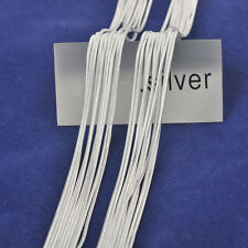 """Wholesale 16-18"""" 100PCS Lot 925 Sterling Silver Plated Snake Necklaces Chains"""