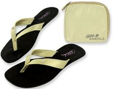 NEW Sidekicks Foldable Sandals in travel bag Gold M 7-8 L 8.5-9.5 XL 10-11