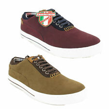 Mens Lambretta Casual Lace Up Pumps Trainers Shoes Sizes 6 to 11 - 2 Colours