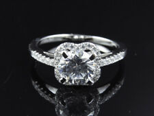 White Gold Over 925 Silver Lab Diamond Solitaire Engagement Fashion Bridal Ring