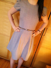 ♥New ASOS Grey Checked Structured Skater Dress Size 8 10 12 14 16 RRP £45♥