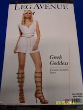 Greek Goddess Roman White Toga Party Fancy Dress Up Halloween Sexy Adult Costume