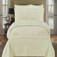 New Athena Ivory Embroidered Duvet cover Set