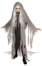 Midnight Spirit Ghost Grim Reaper Scary Fancy Dress Up Halloween Child Costume