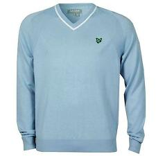 Lyle & Scott Green Eagle Men's Lightweight Golf Jumper Sweater Top blue 2096