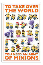 Despicable Me 2 Take Over The World Poster New - Laminated Available