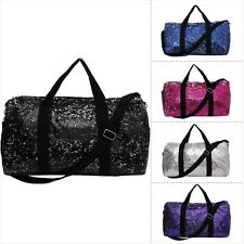 2 Tone Sequin Cheer Dance Yoga Girly Duffle Bag