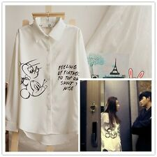KPOP You Who Came From The Star Gianna Jun Blouse Korean Drama Mickey Shirt Tops