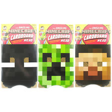 The Amazing Minecraft Cardboard Head- Choice of 3 (One Supplied) NEW