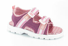 Chipmunks Velcro Leather Small Girls Sporty Pink Summer sandals size 4 5 6 7 8 9