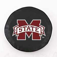 Mississippi State Bulldogs NCAA Exact Fit Black Vinyl Spare Tire Cover by HBS