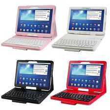 Bluetooth Keyboard Leather Case For Samsung Galaxy Note 10.1 2014 Edition P600