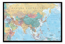 Framed Asia And Middle East Map Poster Ready To Hang - Choice Of Frame Colours