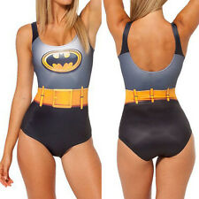 2014 New Sexy Womens Lady Batman print Slim Swimwear One-Piece Swimsuit Bikini