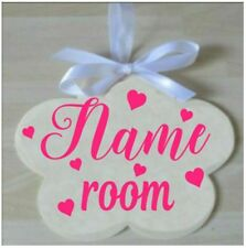 Children's Wooden Name Door Plaque  - Personalised Sign -  Kids - Girls or Boys
