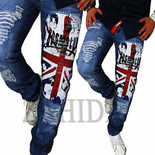 Kosmo Lupo Men's Jeans Denim Cargo Style England Manguera Pantalon Blue UK New