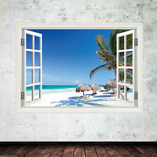 Tropical Window Frame Full Colour wall art sticker decal transfer mural Graphic