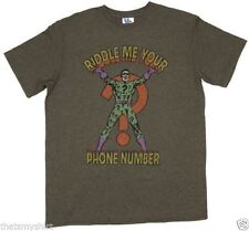 New Authentic Junk Food The Riddler Riddle Me Your Phone Number Mens T-Shirt