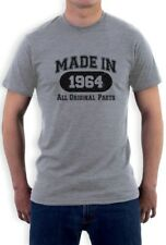 Made In 1964 T-Shirt All Original Parts 50th Birthday Gift Idea Dad Funny Tee