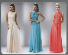 5 COLOR FORMAL OCCASION MOTHER OF BRIDE / GROOM CLASSY EVENING LONG DRESS XS-3XL