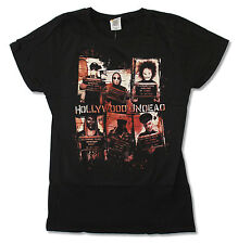 """HOLLYWOOD UNDEAD """"MUGSHOTS"""" BLACK BABY DOLL T-SHIRT NEW OFFICAL JUNIORS"""