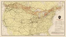 Old Railroad Map - Canadian Pacific Railway with Connections 1912 - 23 x 40