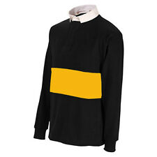 Uwin Black / Amber Reversible Long Sleeeved Rugby Shirt All Sizes rrp£20