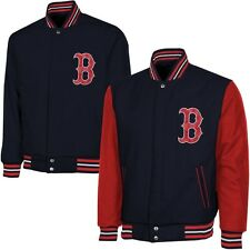 Boston Red Sox Reversible Wool Jacket with Satin Trim - Navy Blue