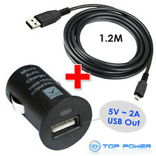 FOR TomTom GPS GO ONE AC DC Auto Car Adapter Charger Power Supply USB DATA CORD