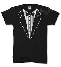 TUXEDO Funny Tshirt Fancy Dress Birthday Bow Tie Joke Novelty Suit Gift Present