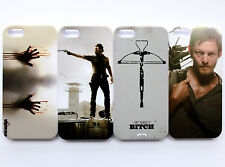 The Walking Dead Rick Daryl Dixon Zombies Pattern iPhone 5 5S Hard Case Cover