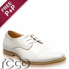 Boys Ivory Shoes, Boys Communion Shoes, Boys Oxford Shoes, Page Boy Shoes