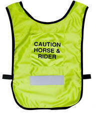 ENGLISH OR WESTERN HORSE RIDER REFLECTIVE CAUTION SAFETY VEST 2 ADULT SIZES