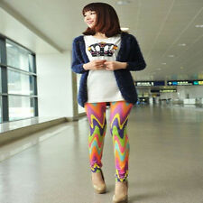 Women Skinny Colorful Leggings Stretchy Sexy Pants Soft Leggings Pencil Tights