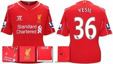 *14 / 15 - WARRIOR ; LIVERPOOL HOME SHIRT SS + PATCHES / YESIL 36 = SIZE*