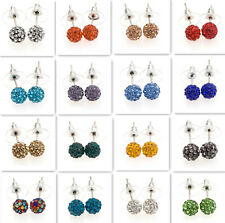 Earring Premium Czech Crystal Disco Clay Ball Stud Earrings 8mm Sale