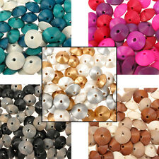 50g Wooden Bicone Spacer Beads Saucer Shaped Disc Mix - 17x10mm Jewellery Crafts