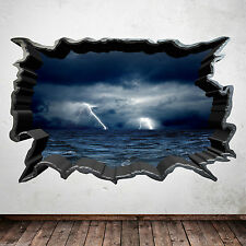 Full Colour STORM AT SEA bedroom wall art sticker decal transfer Boys Girls