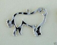 Great Pyrenees Outline Dog Necklace w/Charm Jewelry ~ .925 Sterling Silver Metal