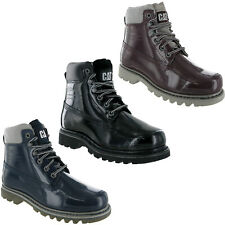 CAT Caterpillar Bruiser Patent  Leather Shiney Ankle Womens Boots UK3-8