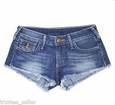 True Religion Brand Jeans Womens Joey Cut Off Vintage denim Super Hot shorts