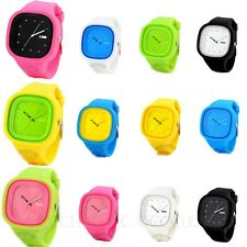 Analog Candy Sports Square Jelly Silicone Watch Unisex Designer