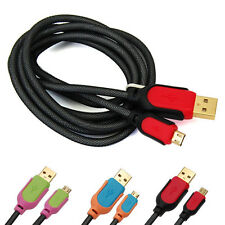 Micro USB Charger Charging Sync Data Cable Cord Thick Rope for Cell Phone Mobile