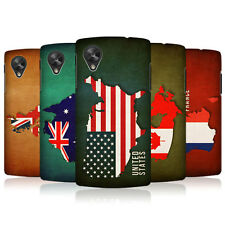 HEAD CASE FLAG MAPS SNAP-ON BACK COVER FOR LG GOOGLE NEXUS 5 D821