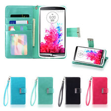 IZENGATE Executive ID Wallet PU Leather Flip Case Cover Folio for LG G3