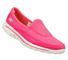 13955 Pink Skechers Shoes Super Sock Go Walk 2 Women Slip On Comfort Loafer Soft
