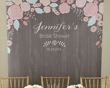 Personalized Rustic Bridal Shower Photo Booth Backdrop Bridal Shower Decoration