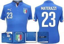 *14 / 16 - PUMA ; ITALY HOME SHIRT SS / MATERAZZI 23 = KIDS & JUNIOR SIZE*