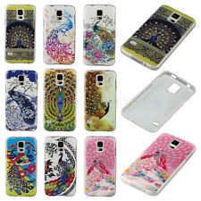 Hot Sale Peacock Bling Rhinestone TPU Soft Back Case Cover For Apple For Samsung
