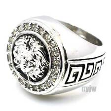 NEW HOT MENS RAPPER BIG CHUNKY SILVER MEDUSA DESIGN RING KR002S